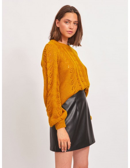 Jersey texturas bordadas mujer